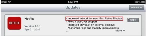 iPad retina update